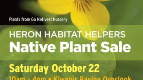 Native Plant Sale  –  October 22, 2016